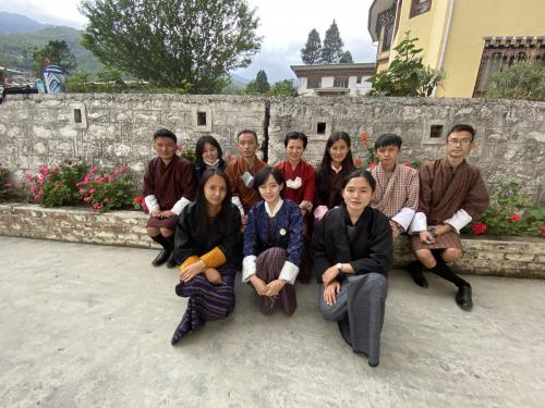 a picture of Dolma with some of her law students